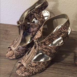 BCBGirls Snake Print Heels